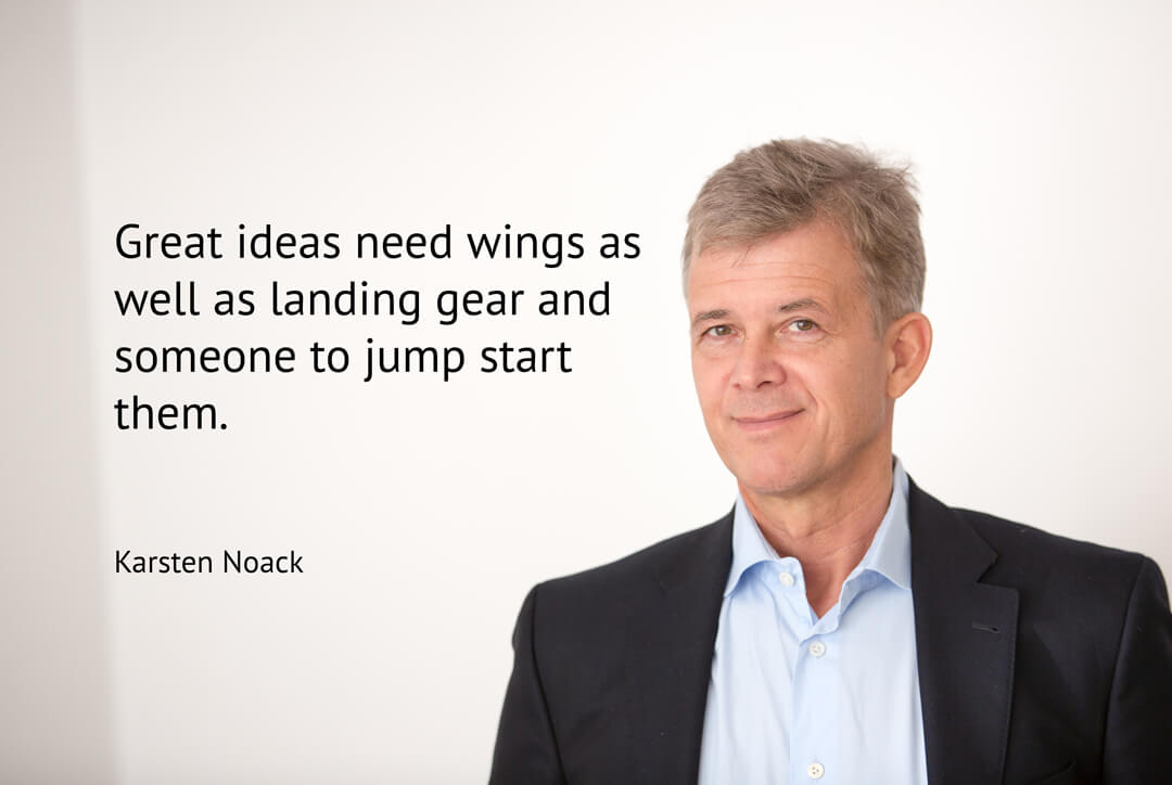 Great ideas need wings as well as landing gear and someone to jump start them. Karsten Noack Training & Coaching Berlin