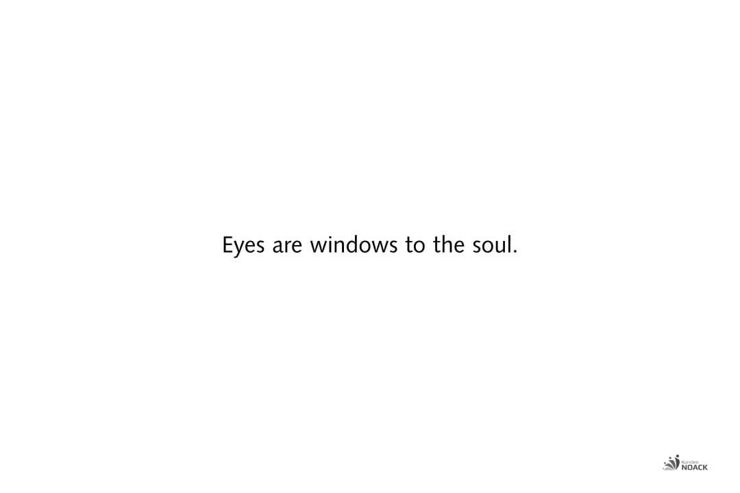 Eyes are windows to the soul.